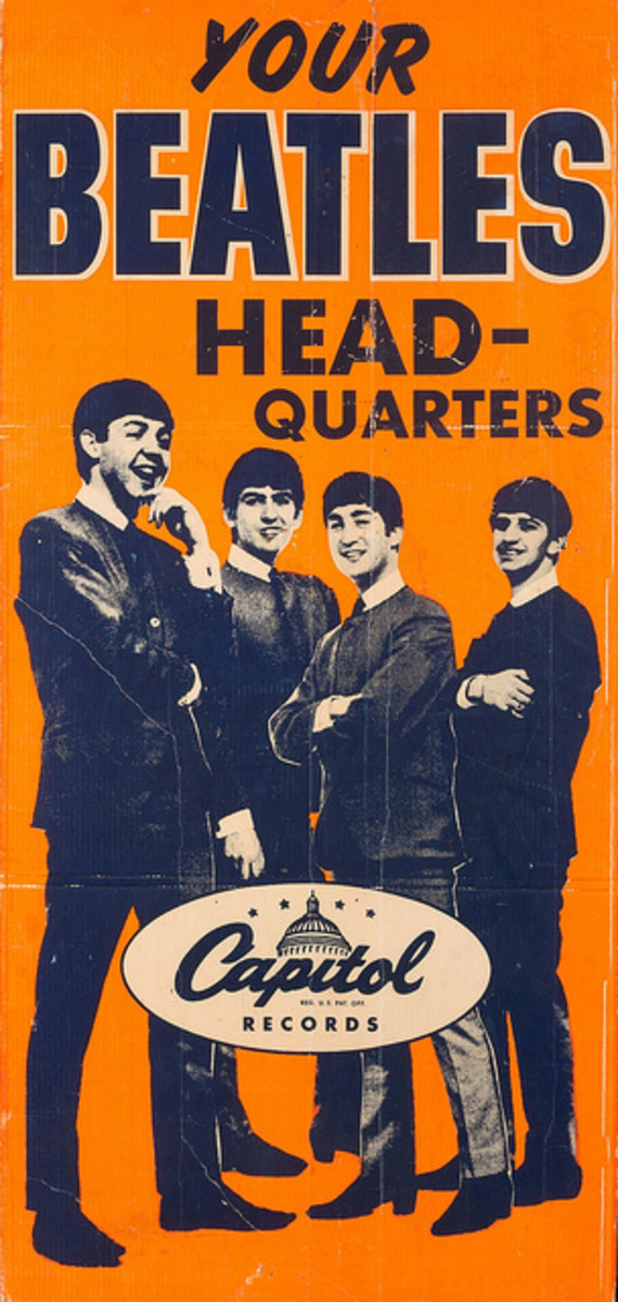 The Beatles Capitol Records Over-sized Promotional Poster