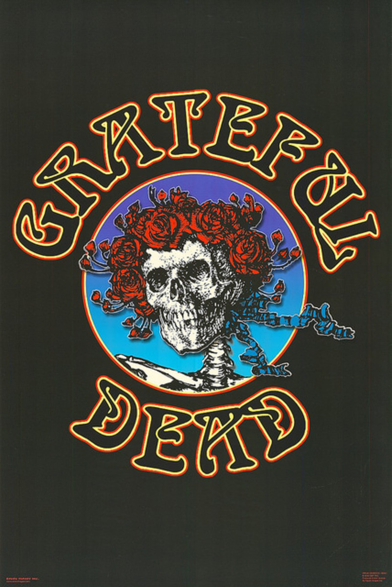 "The Grateful Dead ""Skull and Roses"" Poster  Raven Images Inc., Grateful Dead Productions, Inc.(2002) 36 x 24"