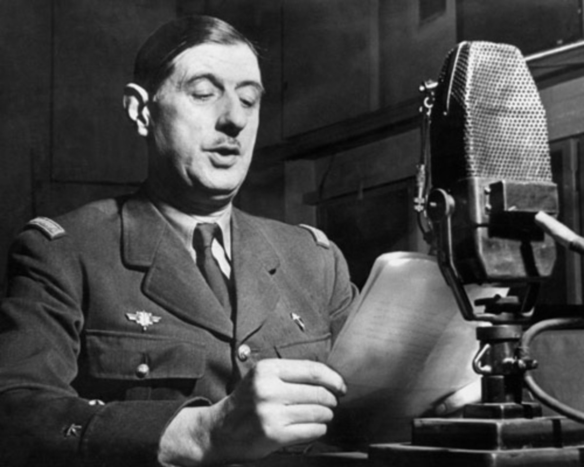 Charles de Gaulle Speaking To Frenchmen Over Radio From Britain