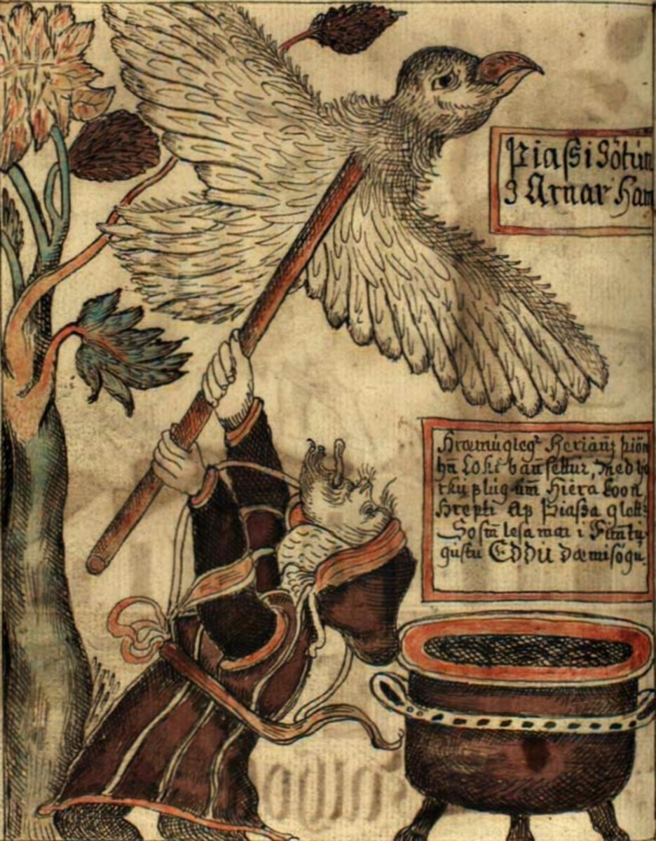 An illustration from the Prose Edda, which preserved the bulk of what we know about Germanic Mythology.
