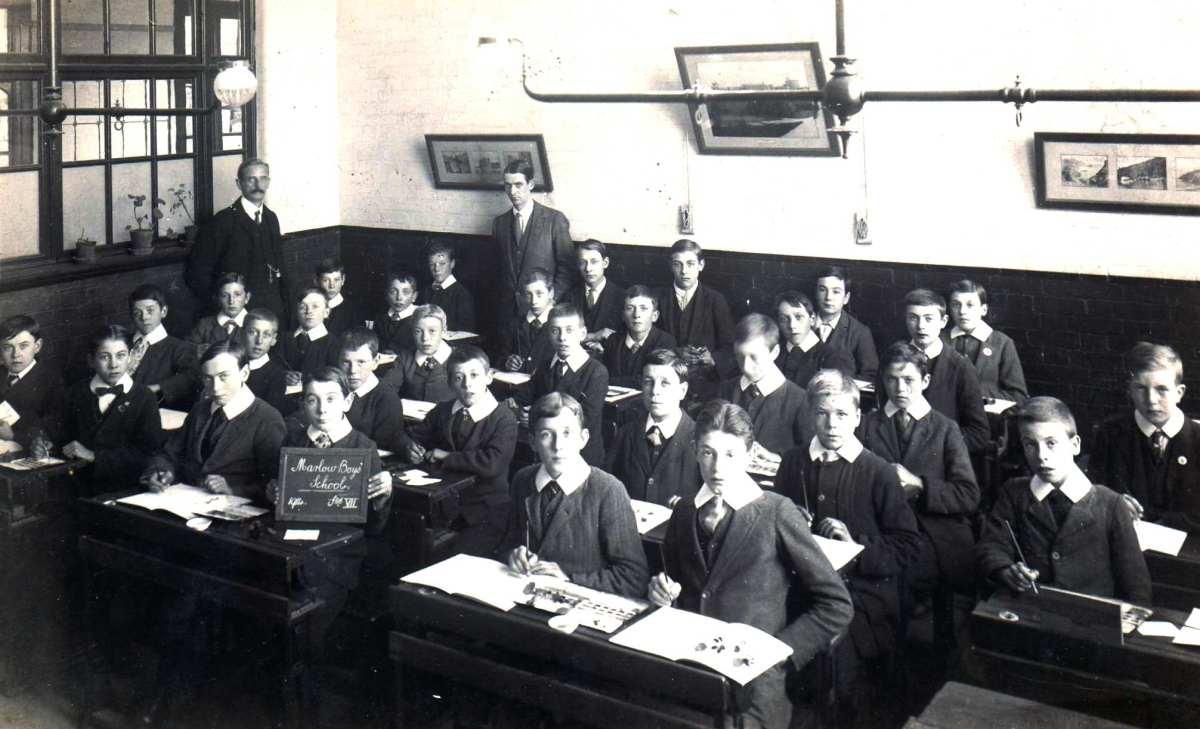 Holy Trinity Boys School 100 years ago!