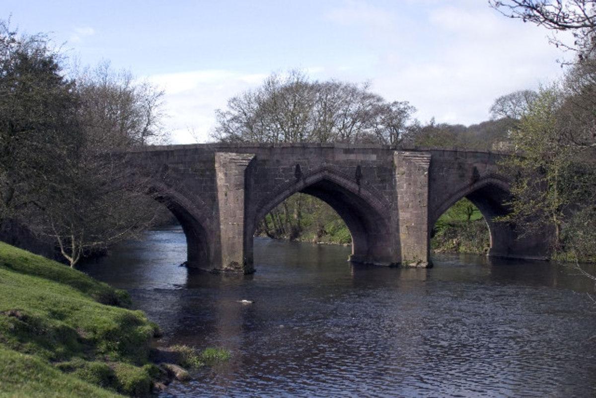 Cromford Bridge over the River Derwent.