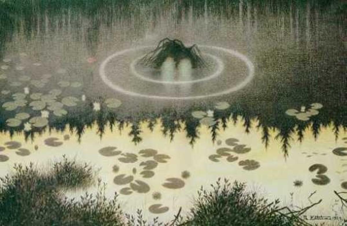 """""""Nøkken"""" (The Water Spirit) by Theodor Severin Kittelsen."""