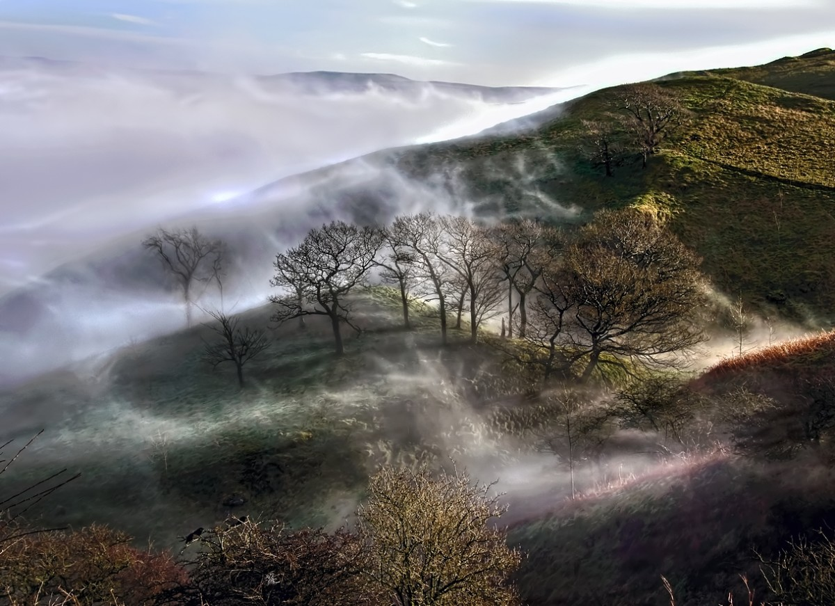 """A Ring of Morning Mist"". Derbyshire, where you can visit part of the Peak District National Park."