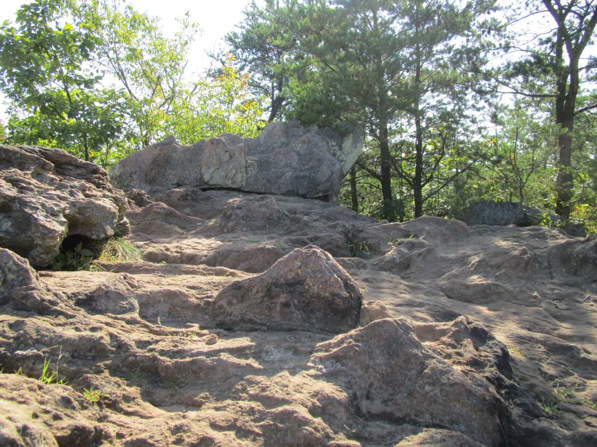Here is a scene from atop The King's Pinnacle Crowders Mountain State Park Kings Mountain, NC