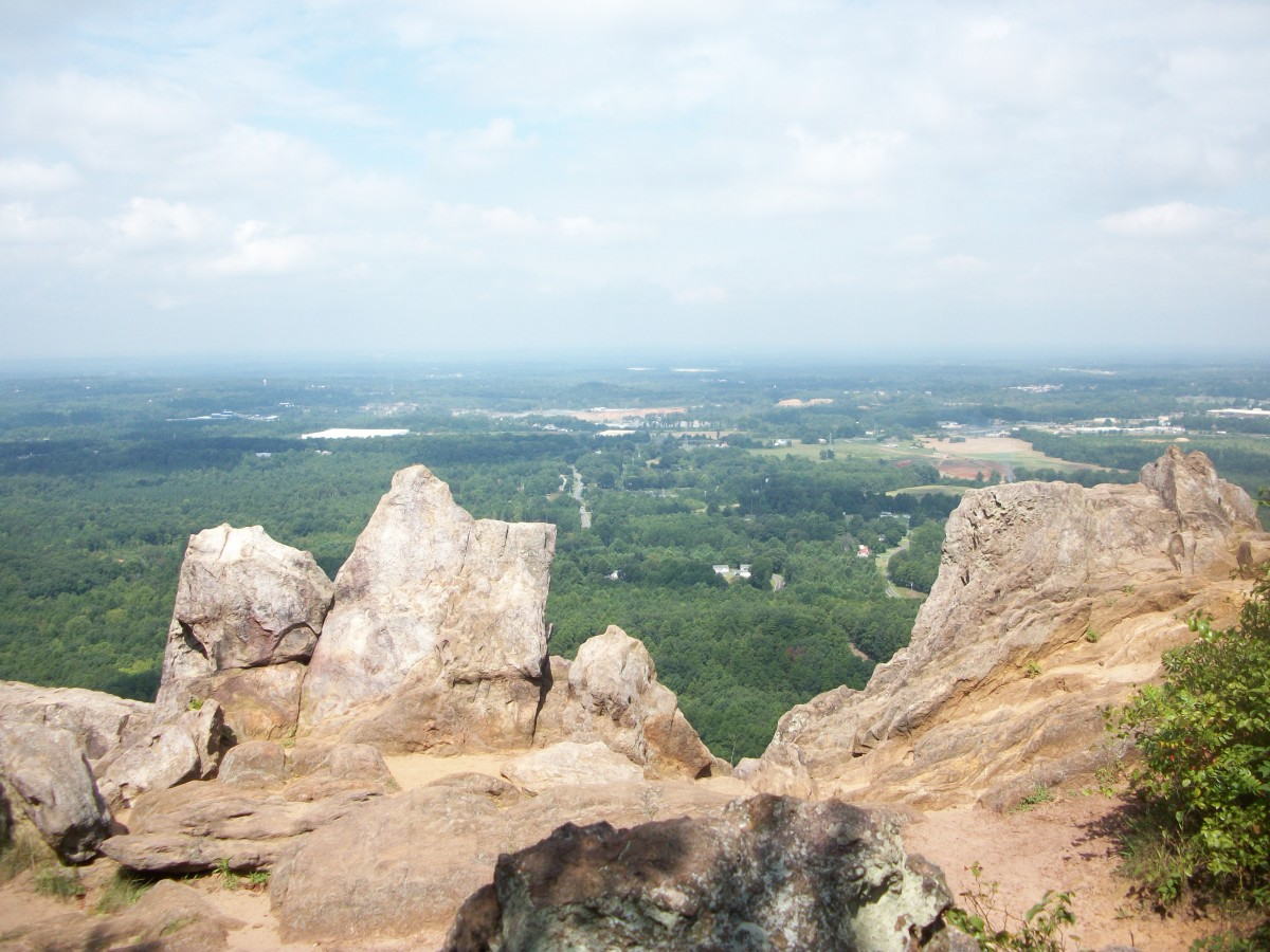 View from The King's Pinnacle Crowders Mountain State Park Kings Mountain, NC