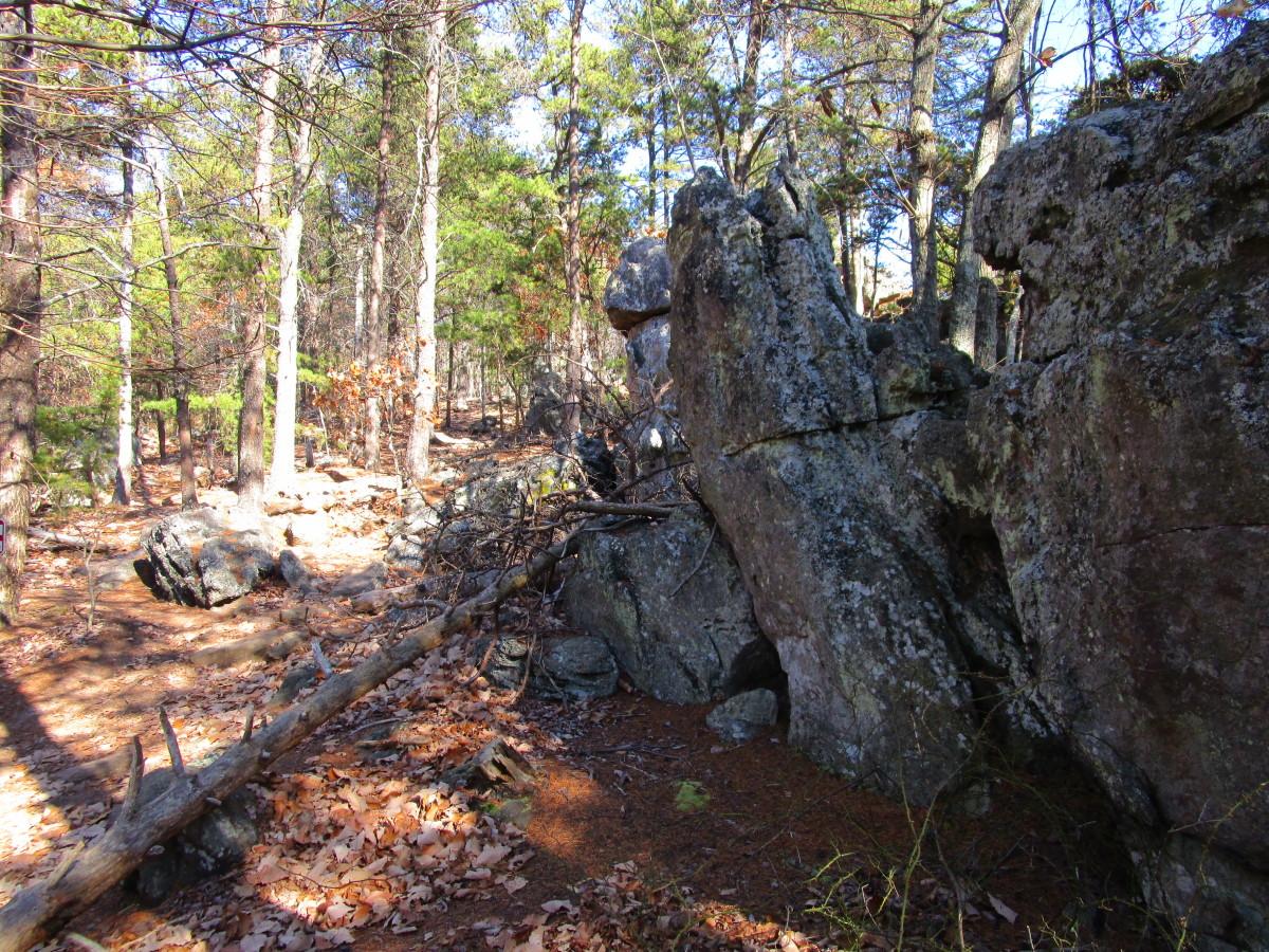 More rocks to climb! Glad I brought my poles!