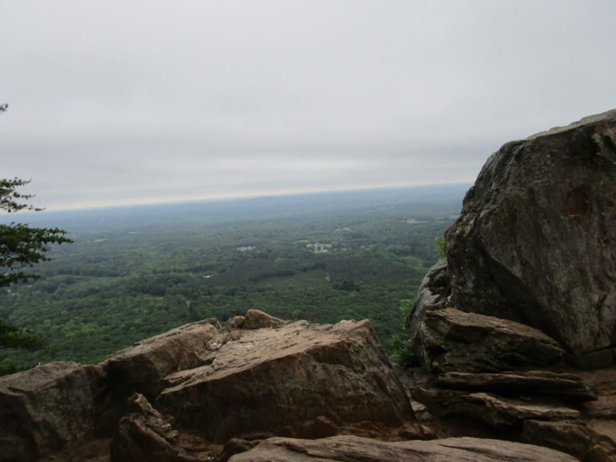 Amazing views atop the Rocktop Trail at Crowders Mountain State Park.