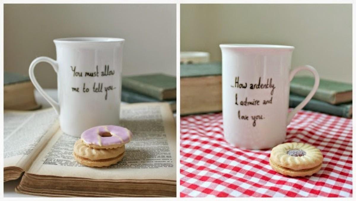 Pride and Prejudice (Mr. Darcy) quote mug