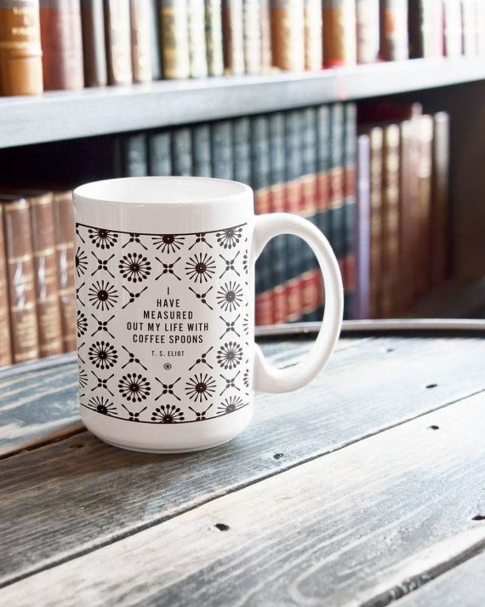 T.S. Eliot quote mug