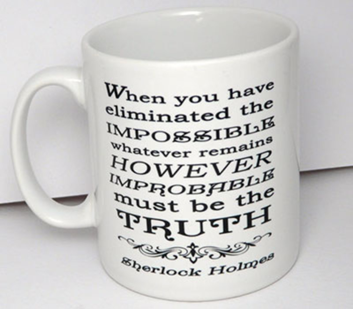 Sherlock quote mug