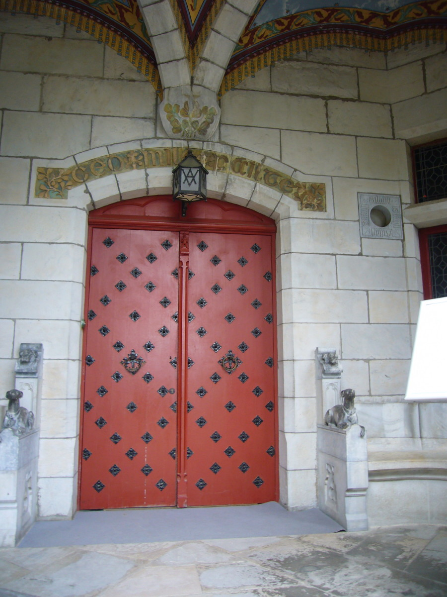 Chateau d'Abbadia's Main Door