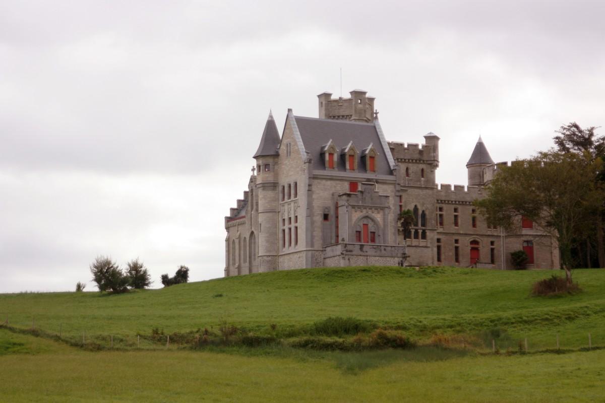 The Château d'Abbadia (Pays Basque, France).  Southwest façade.  View of the Chapel.