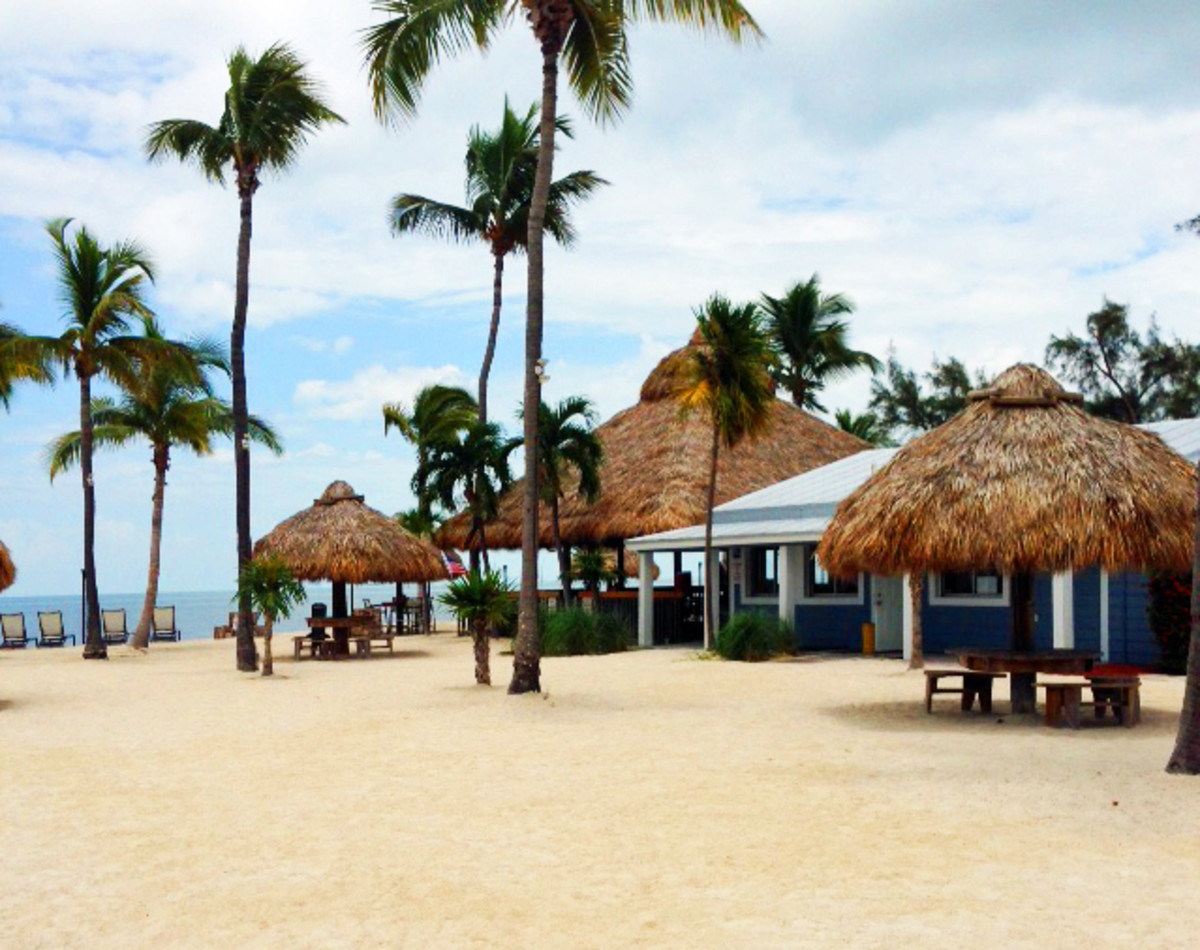 The Tiki Bar at Fiesta Key Rv Resort. A great site right on the Gulf that serves good food and cold drinks.