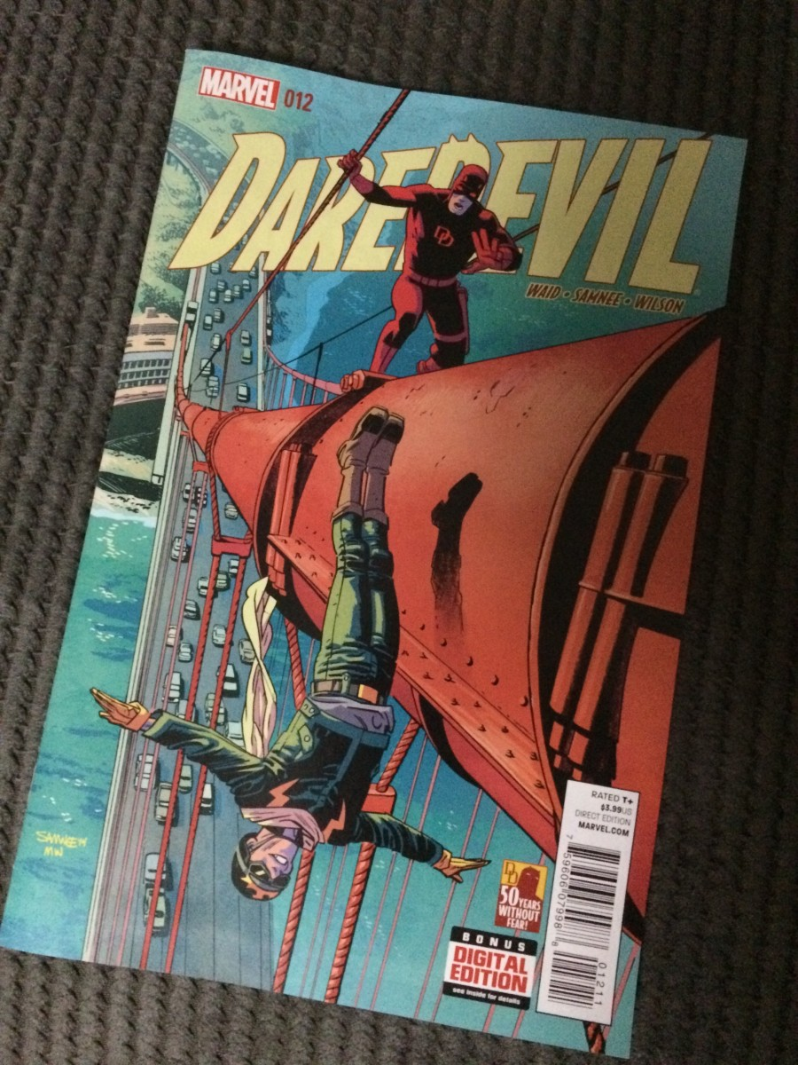 An issue from Mark Waid's fantastic run on Daredevil, one of the best comic books on the shelves at the moment.
