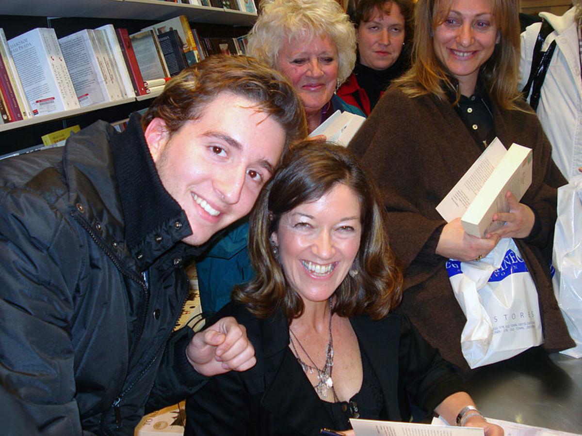 Victoria Hislop at an autograph session in Crete