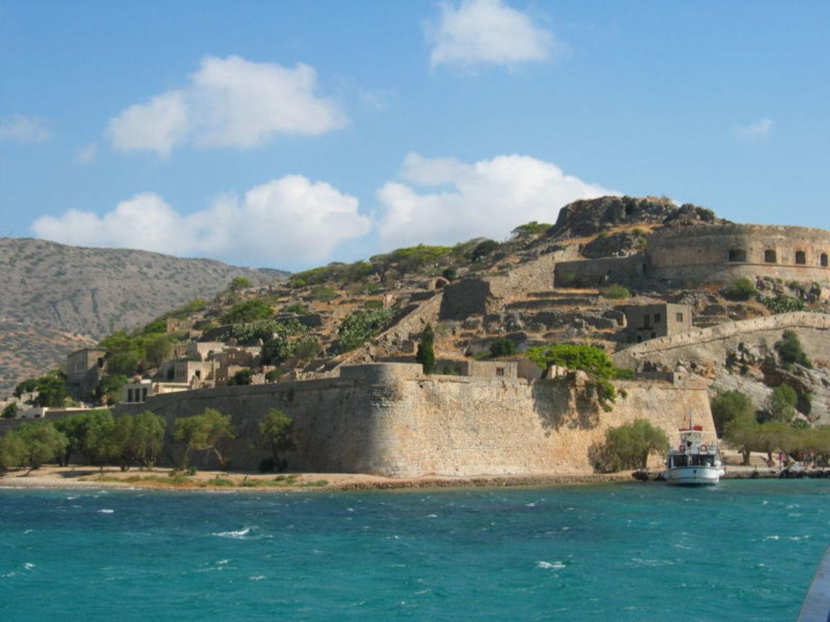 The island of Spinalonga, Crete