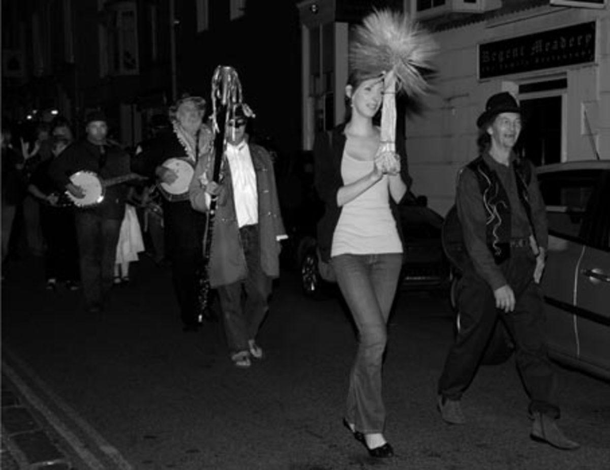 Guldize Neck Procession, Penzance, 2008