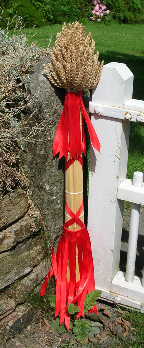 """A Cornish """"Neck"""" Corn Dolly. This design is from Ruan Minor, near The Lizard."""