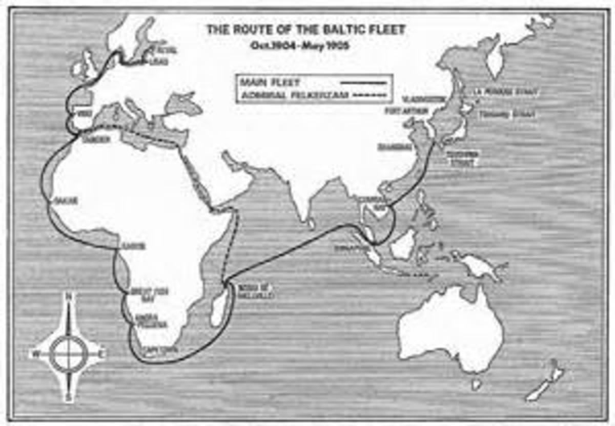 Route of the Russian Fleet