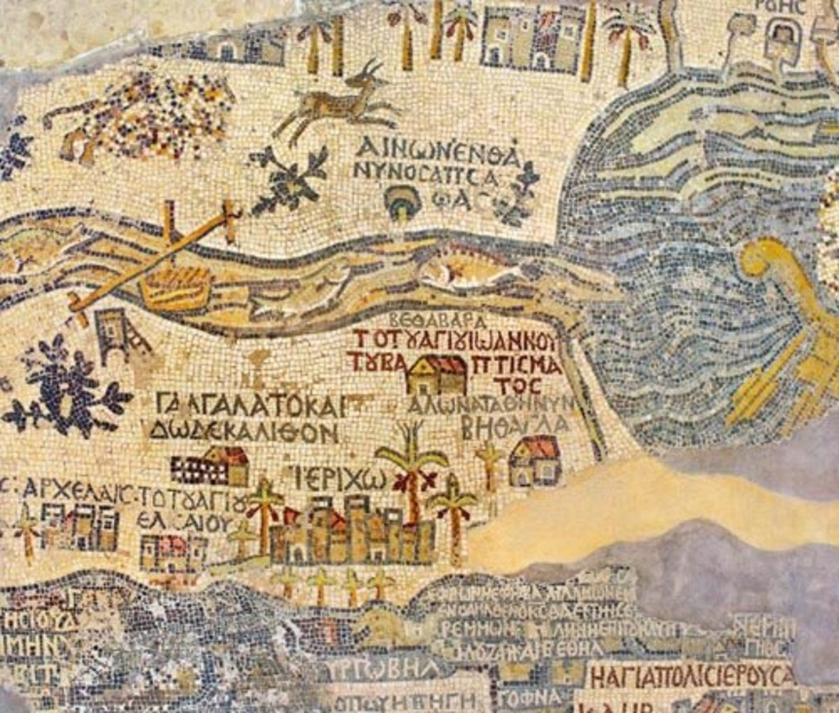 A map of biblical cities.........