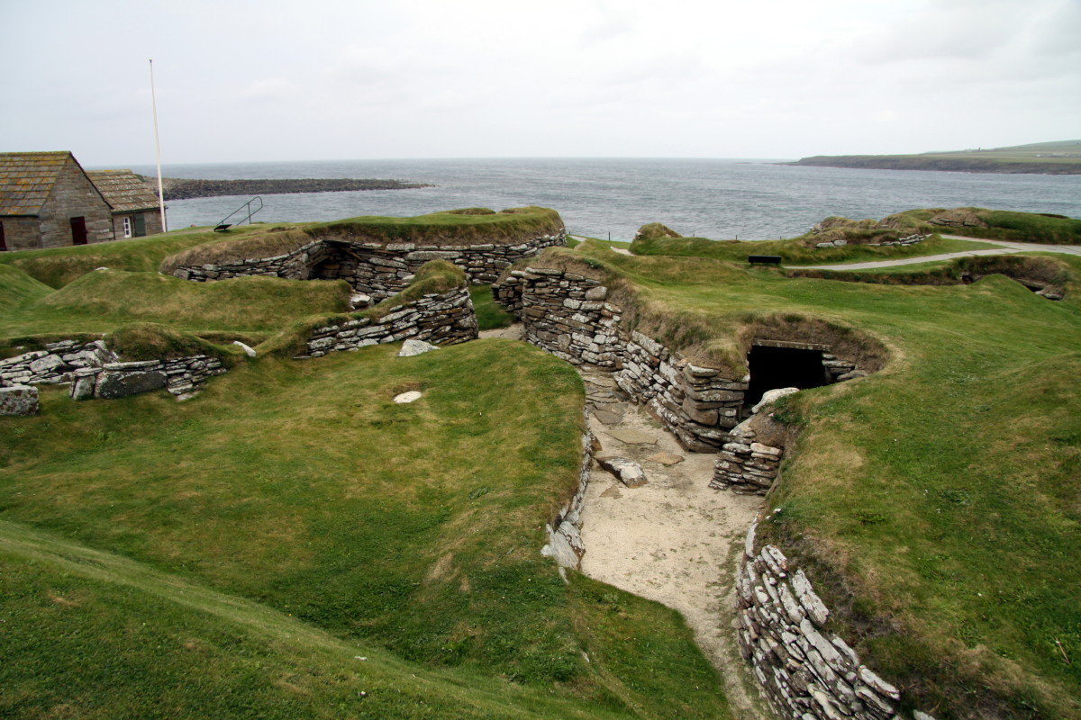 Skara Brae was discovered in 1850, and excavated in 1920 by the archaeologist Gordon Vere Childe.