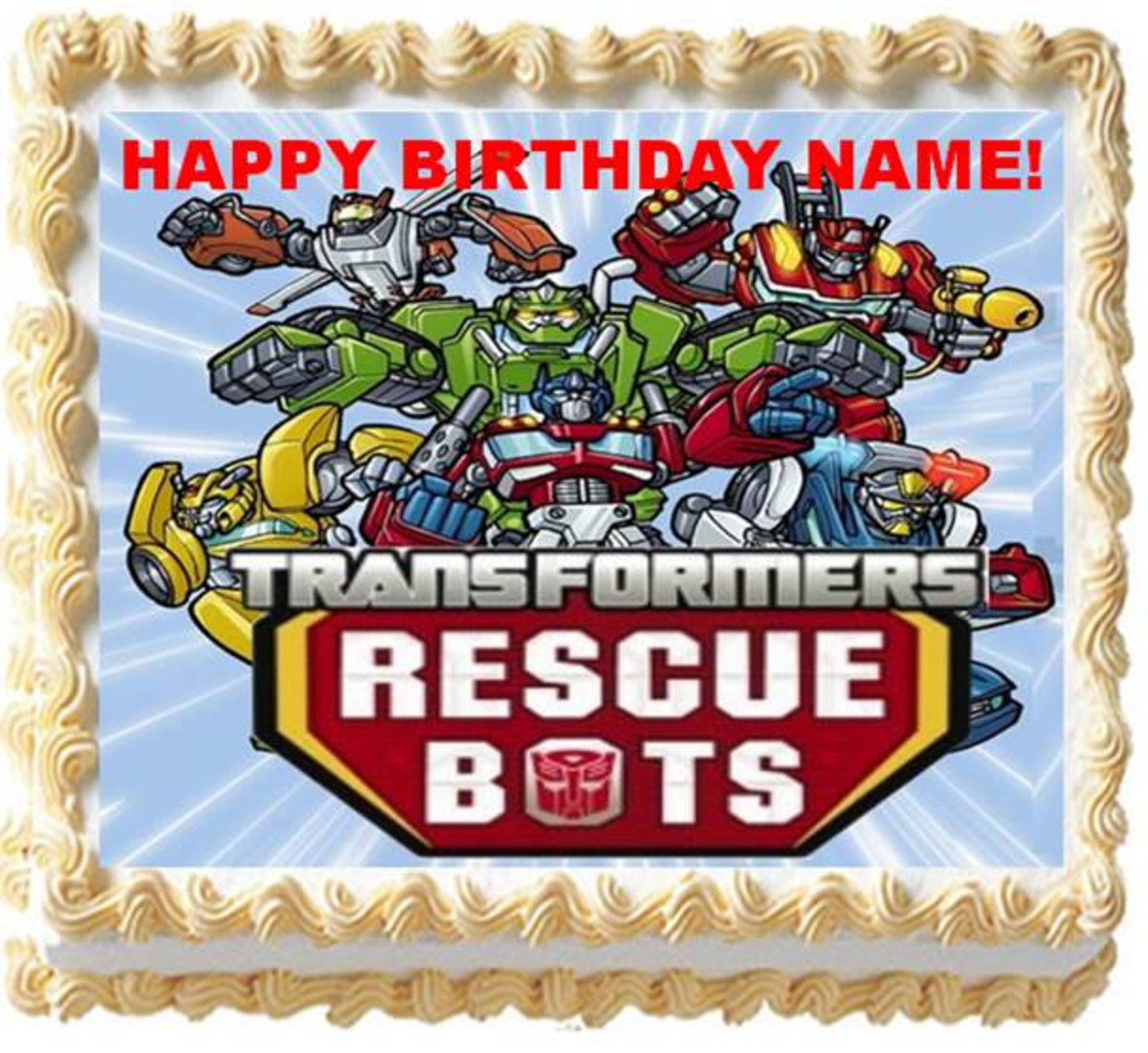 Groovy Transformers Rescue Bots Birthday Party Supplies And Themed Ideas Funny Birthday Cards Online Alyptdamsfinfo