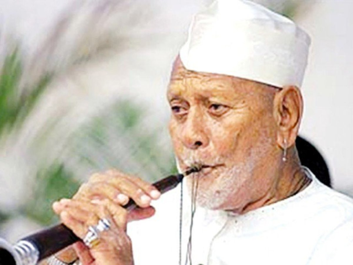 Indian Musical Instrument 'Shehnai': Artist Bismillah Khan.
