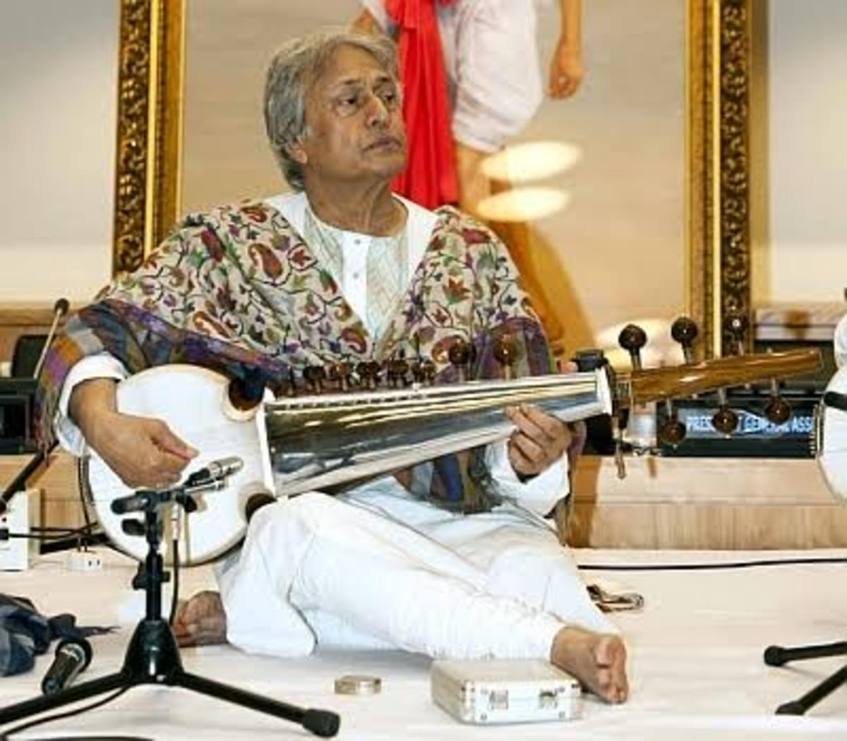 Indian musical instrument, the Sarod Artist—Ustaad Amzad Ali Khan