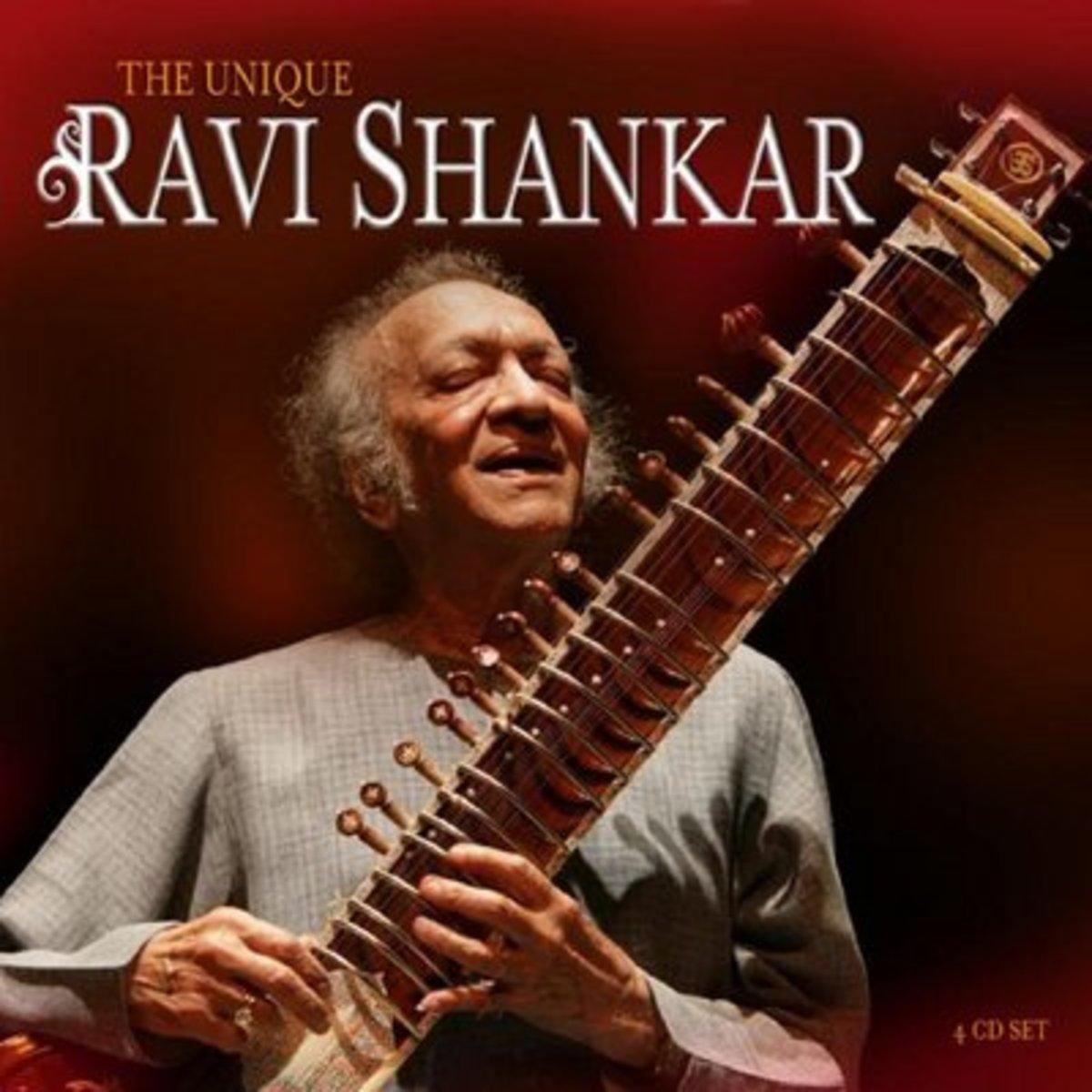Indian musical instrument, Sitar.  Artist-Pandit Ravi Shankar