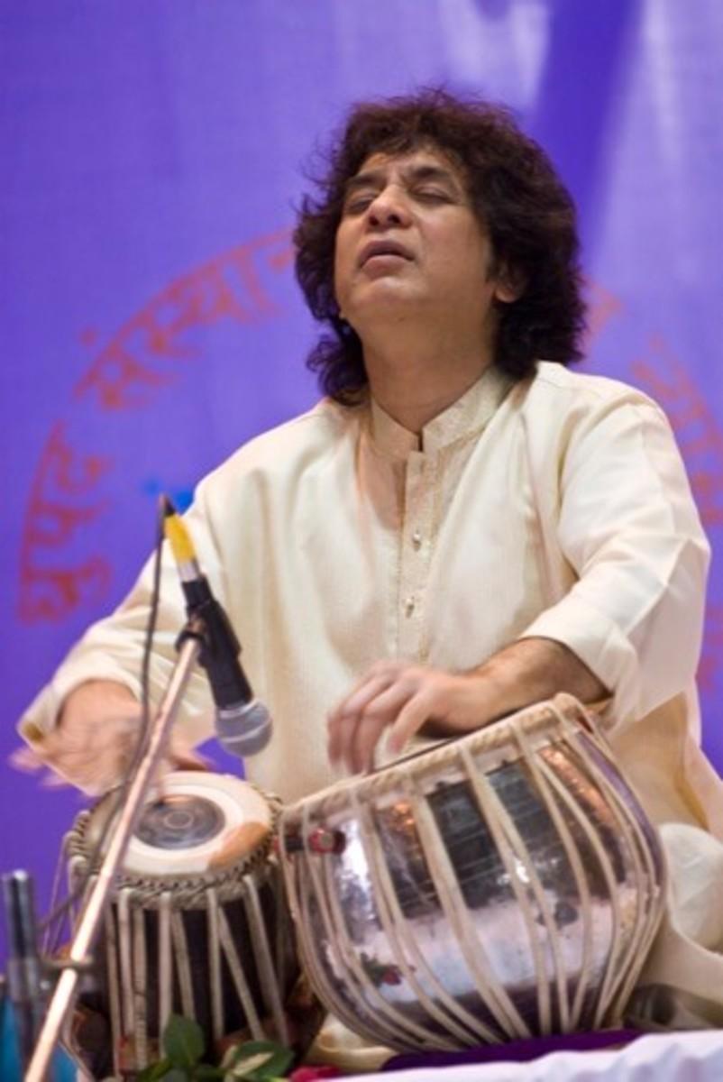 Indian musical instrument, Tabla Artist—Zakir Hussain
