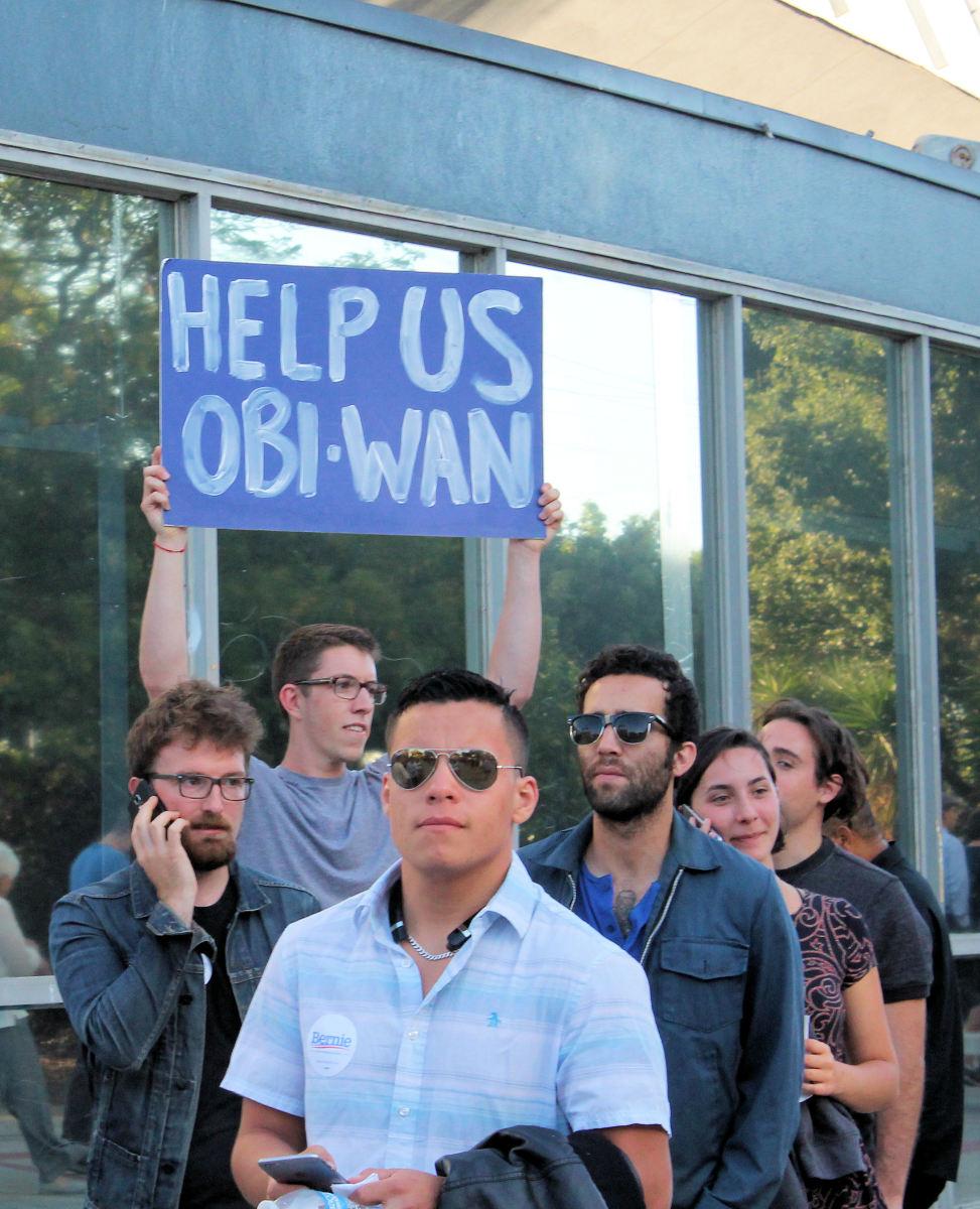 Bernie Sanders' supporters in LA. August 2015