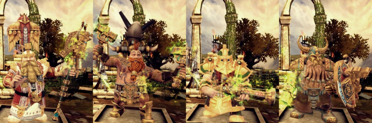 Return Of Reckoning; Dwarf Classes