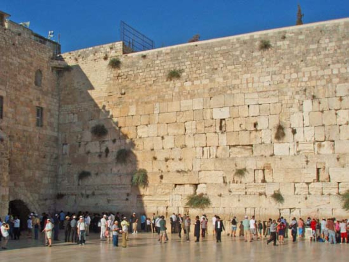 Western Wall in Jerusalem-the Holiest Place in Judaism