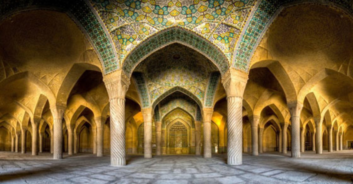 Interior of an Iranian Mosque