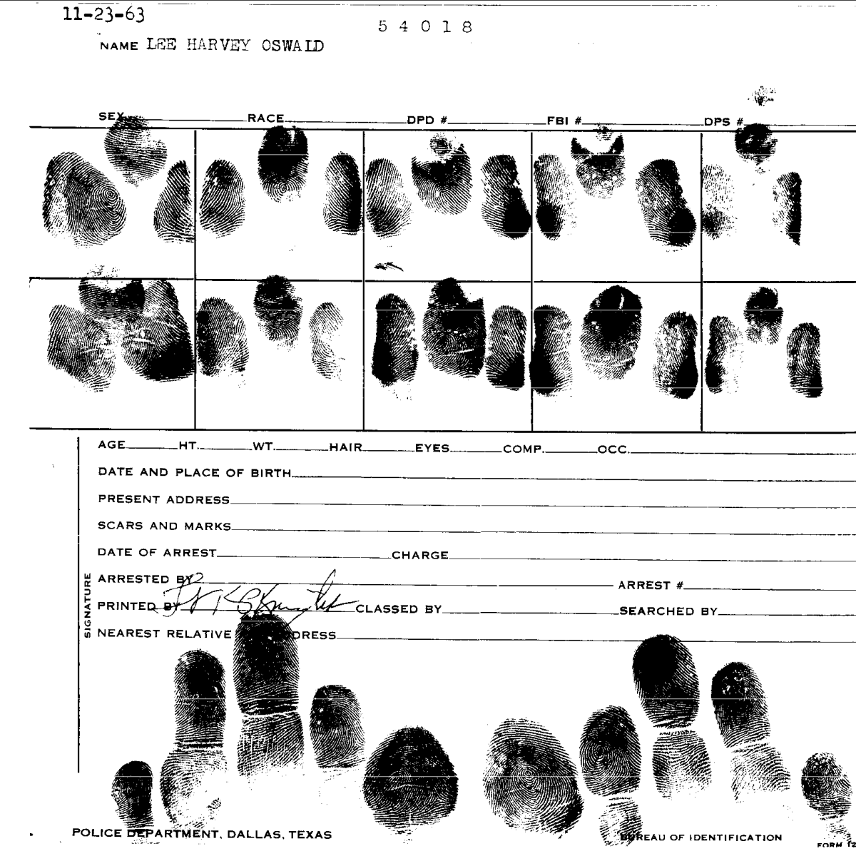 Oswald's Fingerprints