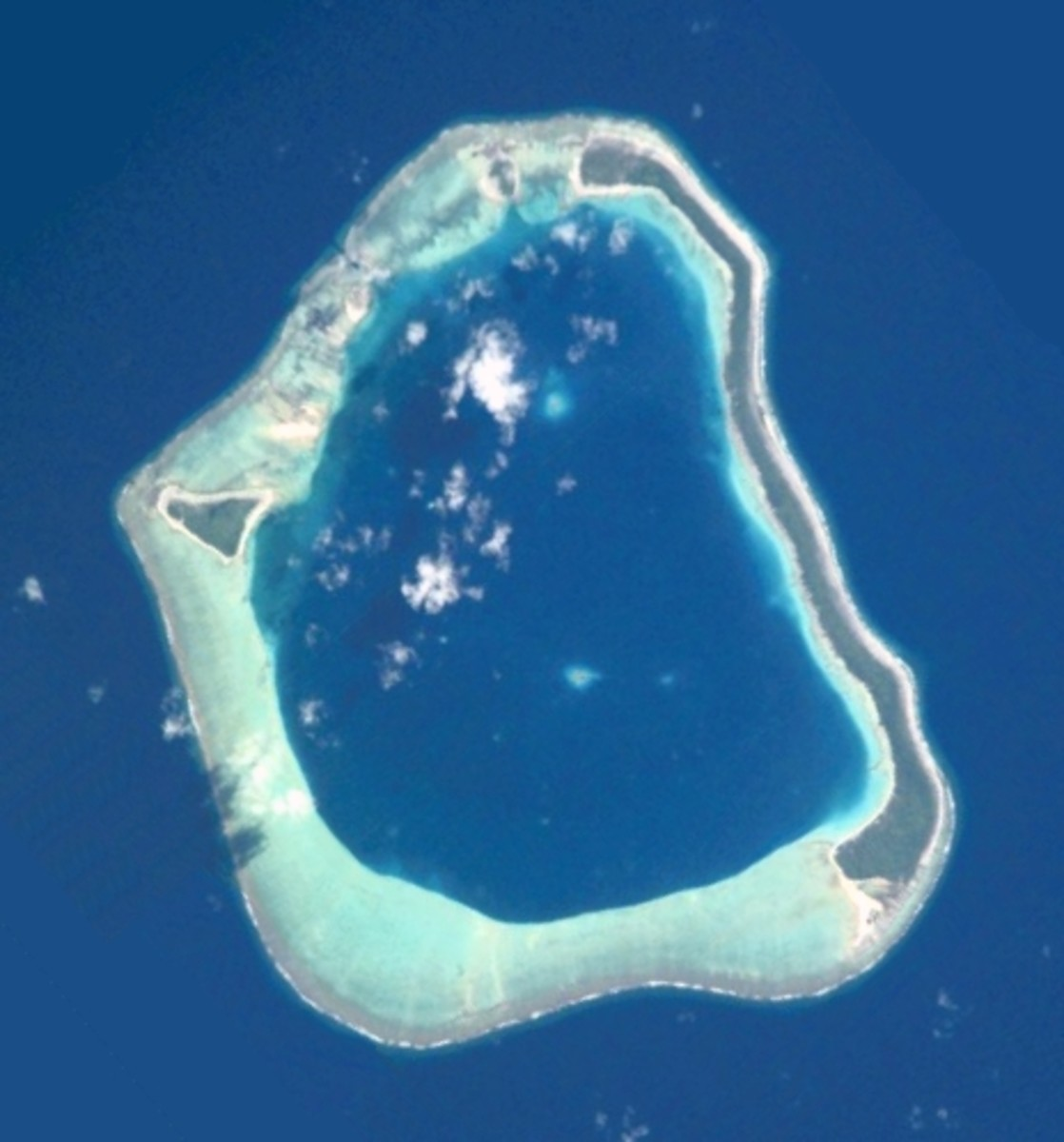 Mopelia, also known as Maupihaa, the atoll in the Pacific where Sea Eagle was wrecked in 1917.