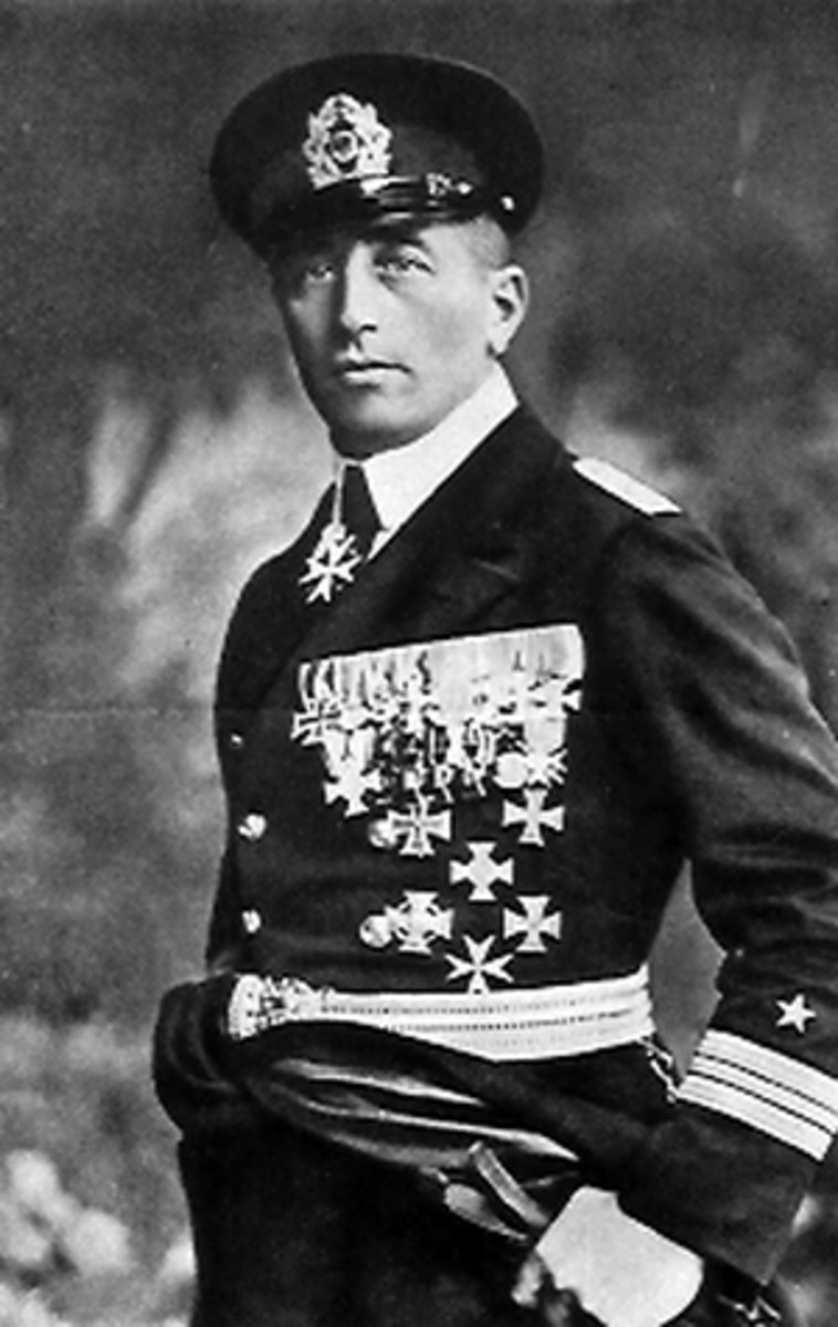 WW1: Felix Graf von Luckner (Count Felix von Luckner) June 9, 1881 - April 13, 1966.