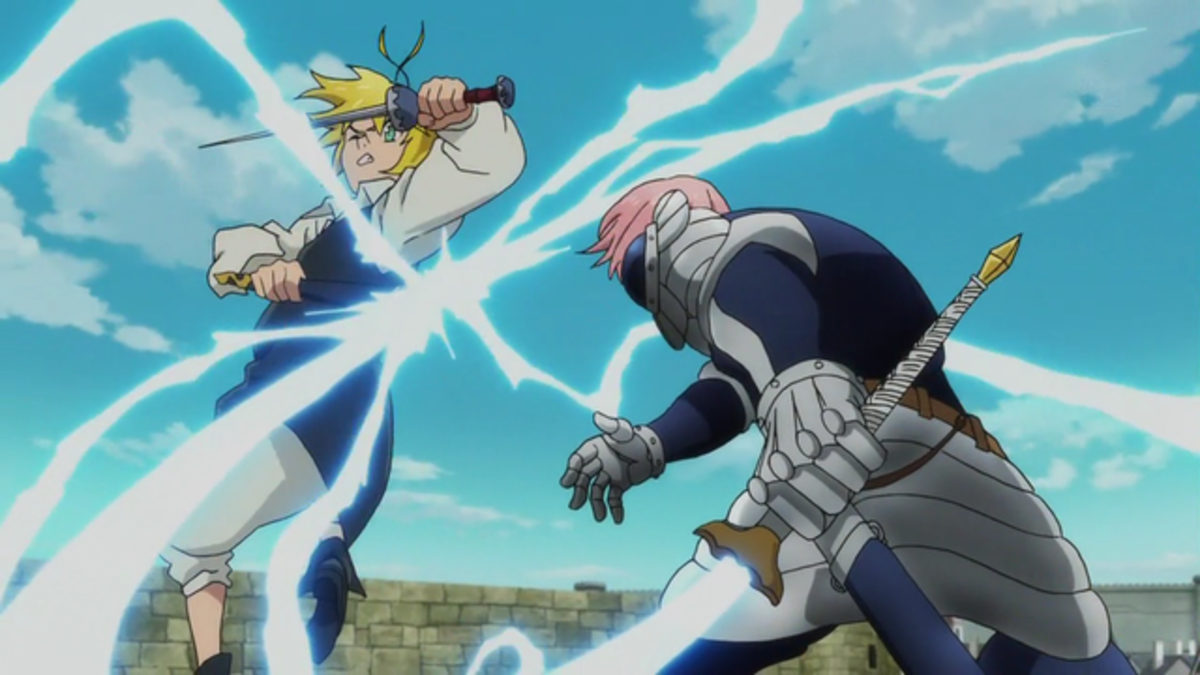 Gilthunder fighting Meliodas
