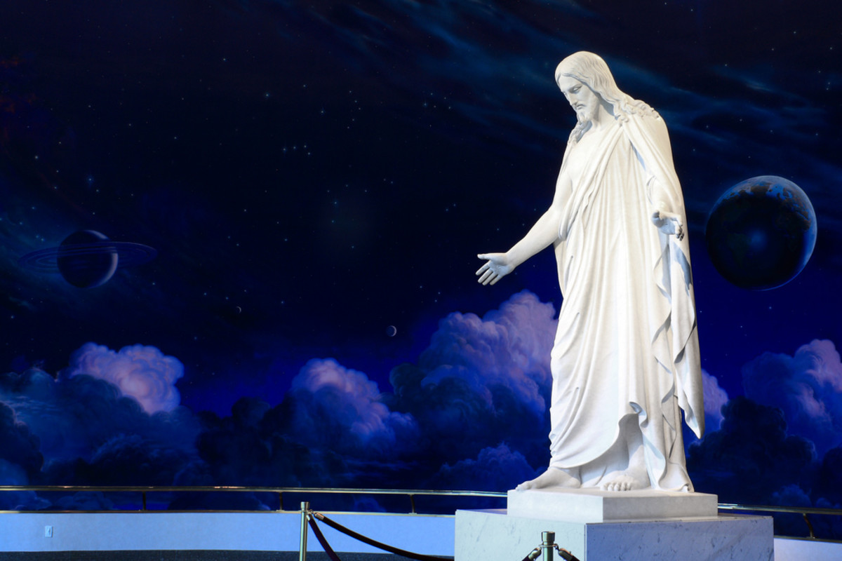 This Christus statue is housed on LDS Temple Square in Salt Lake City, Utah.