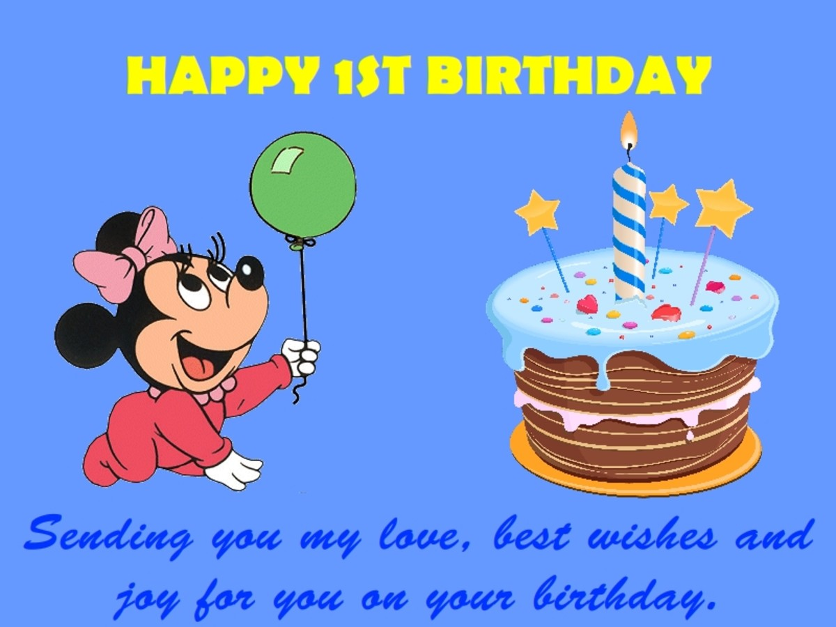 1st Birthday Wishes, Messages and Quotes Collection