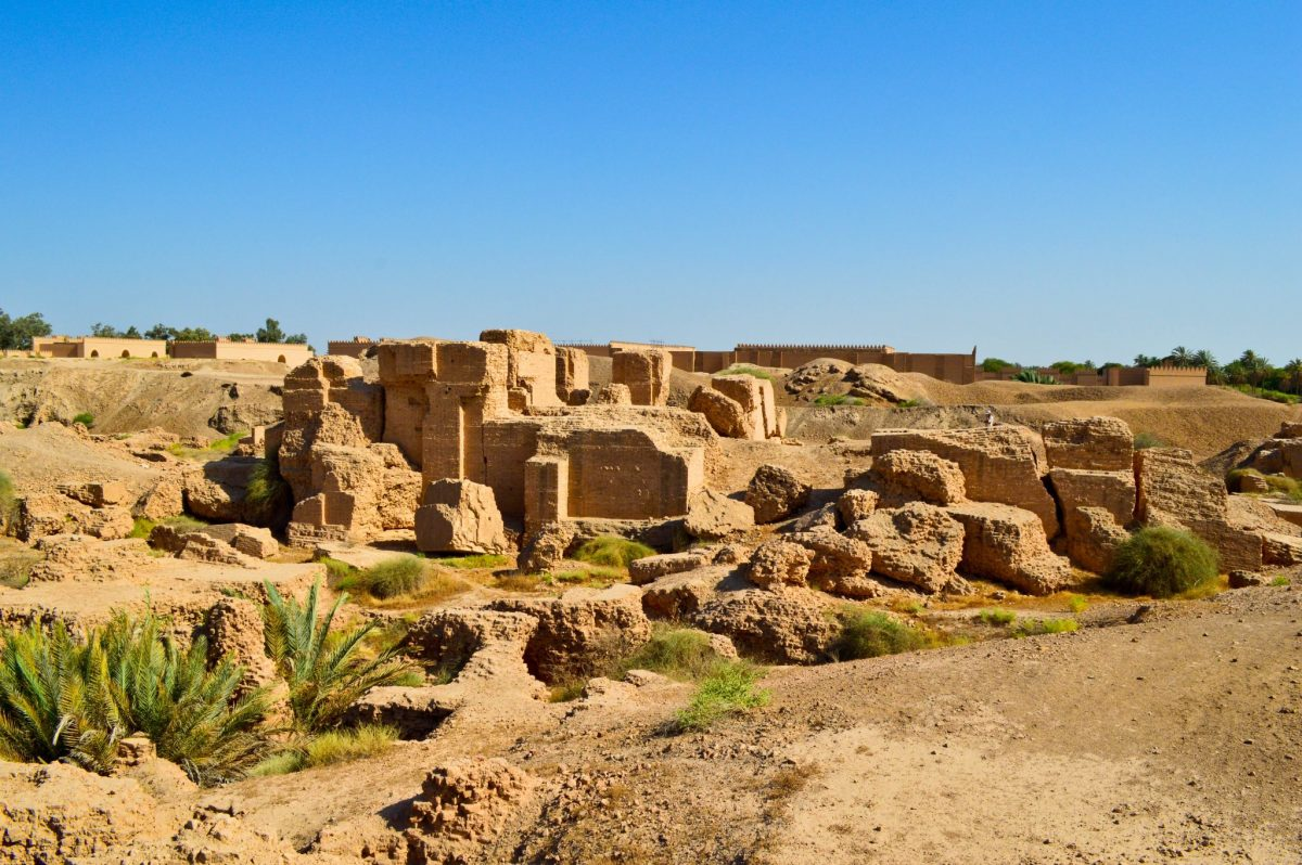 Ruins of the North Palace built by King Nebuchadnezzar