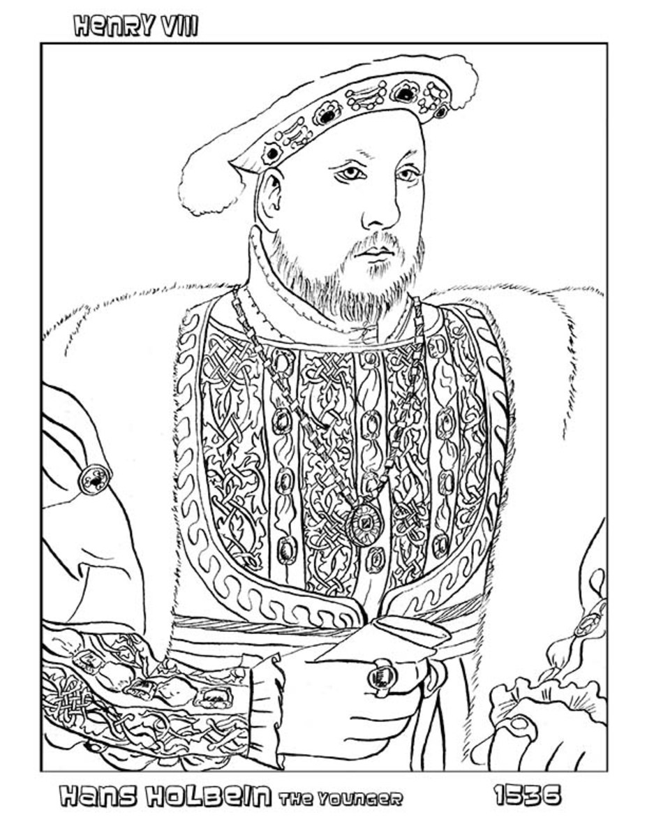 page from the Classical Renaissance Art Coloring Book