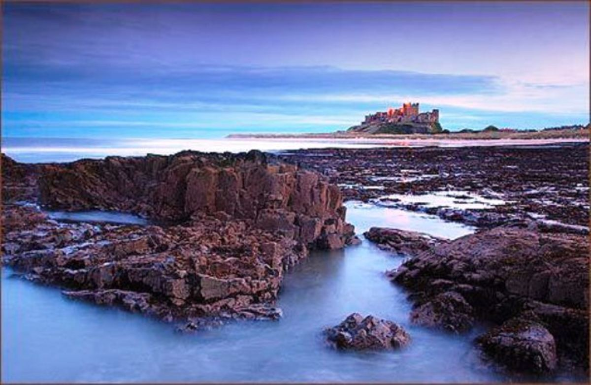 Bamburgh - this is the Norman stronghold built on the site of Ida's - known as Baebbanburh after King Aethelthrith's second wife, the Pictish princess Baebba