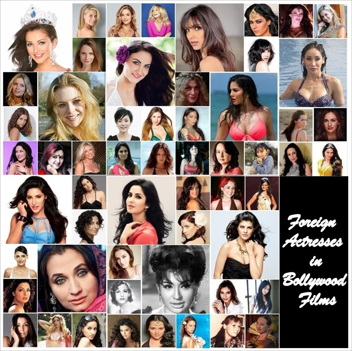 56 Foreign Actresses in Bollywood Films and Indian Television