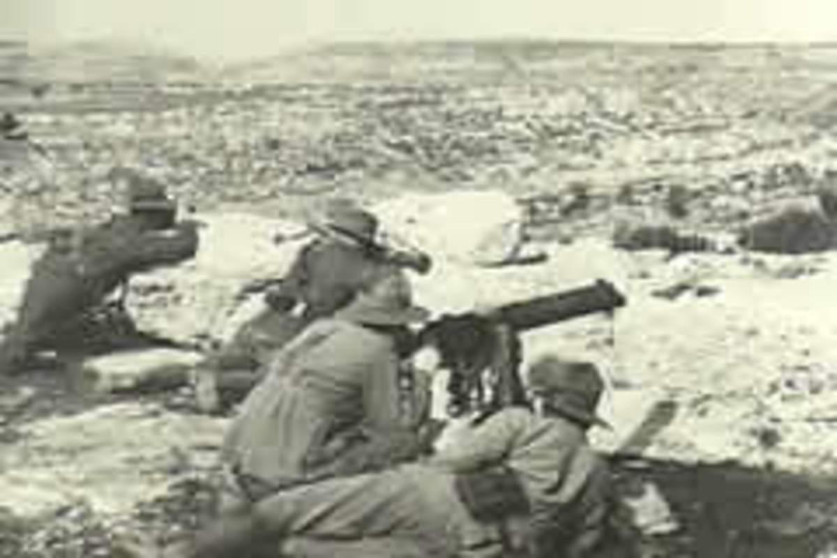 Australian forces in the battle