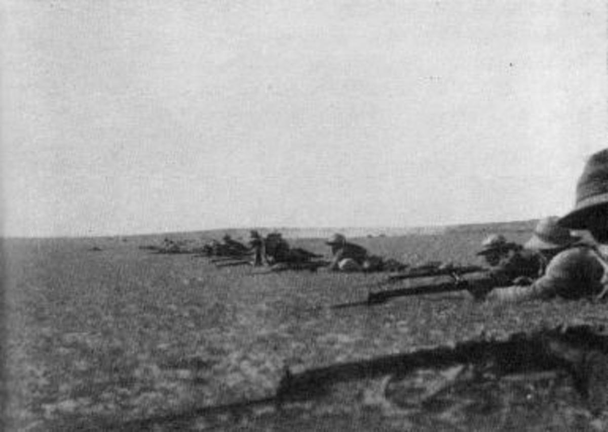 British Line at Rafa 1917