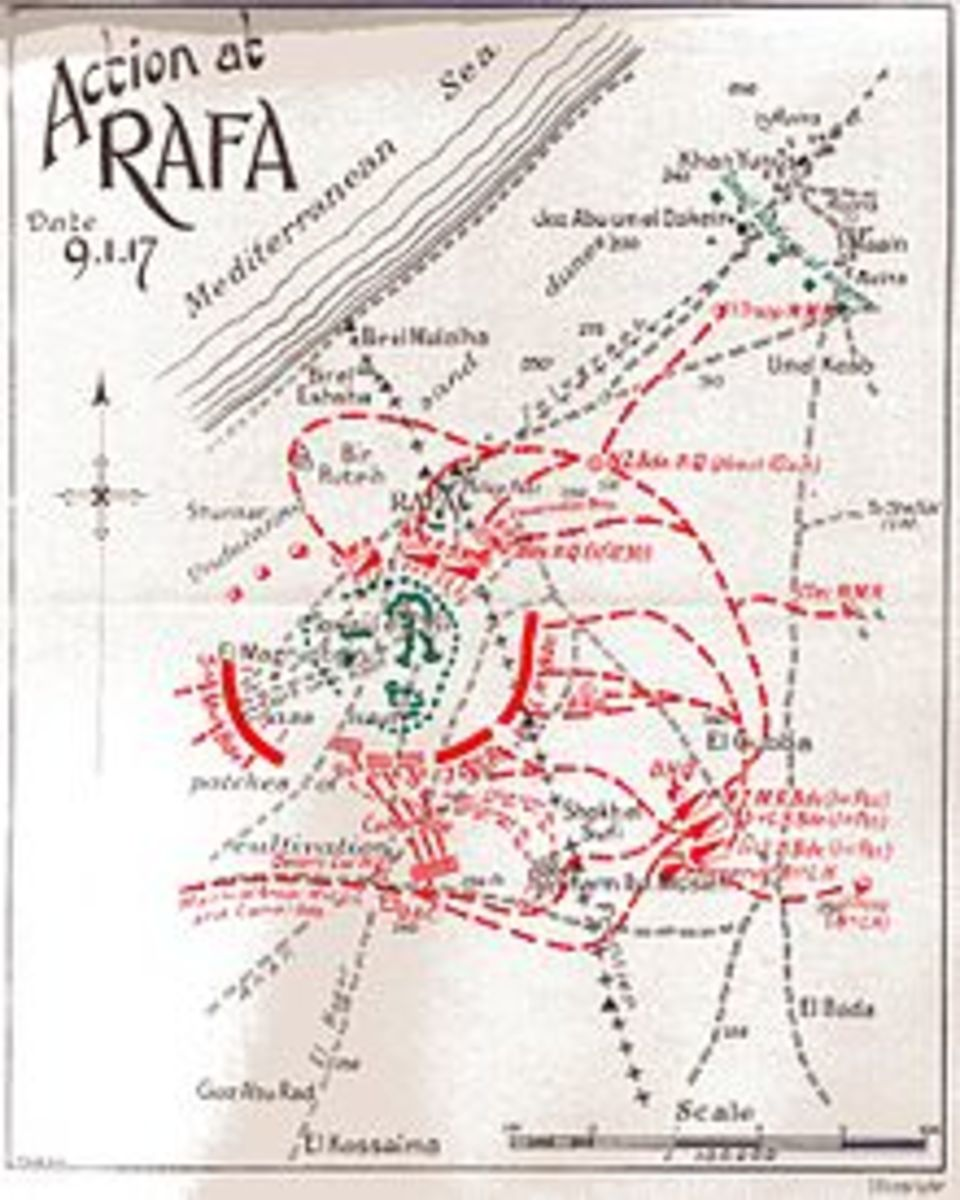 Map of the battle in Rafa