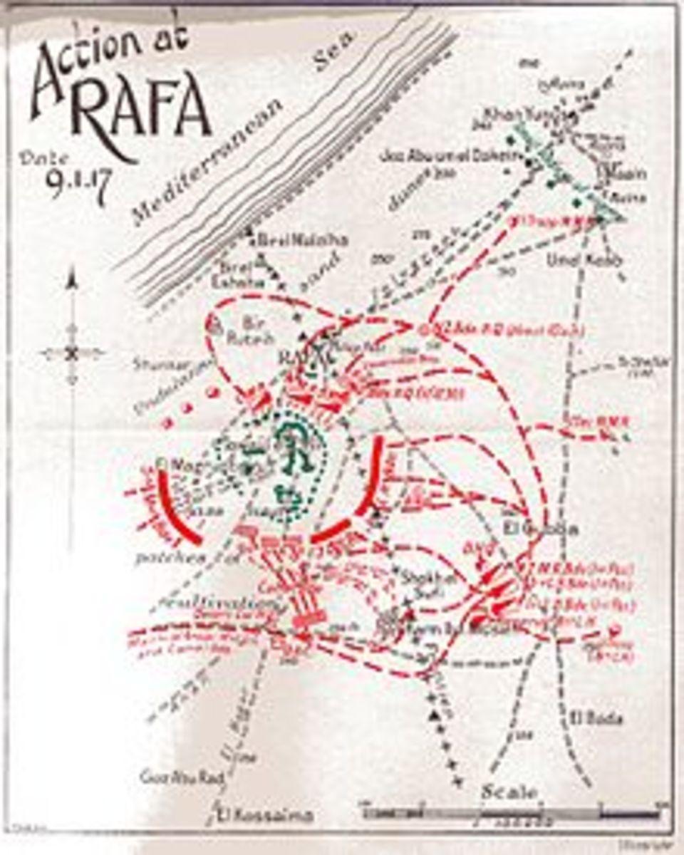 Map of the battle in Rafa