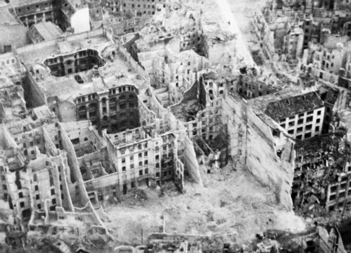 Bombed out buildings in Berlin
